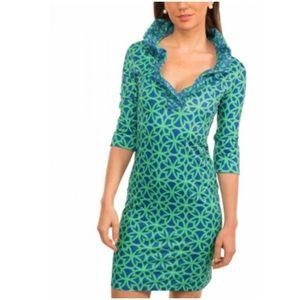 Gretchen Scott ruffle neck Baltimore dress NWOT